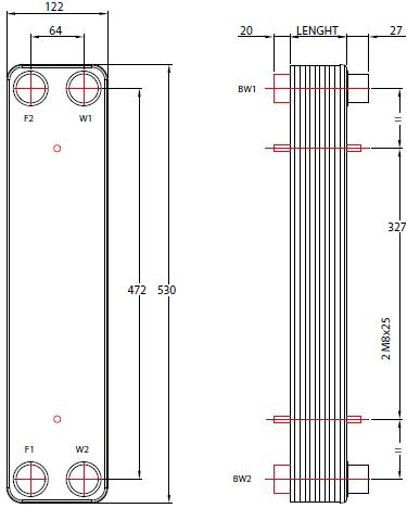 Пластинчатые паяные теплообменники ONDA серии S12 Кисловодск Паяный теплообменник Funke GPL 7 Бийск